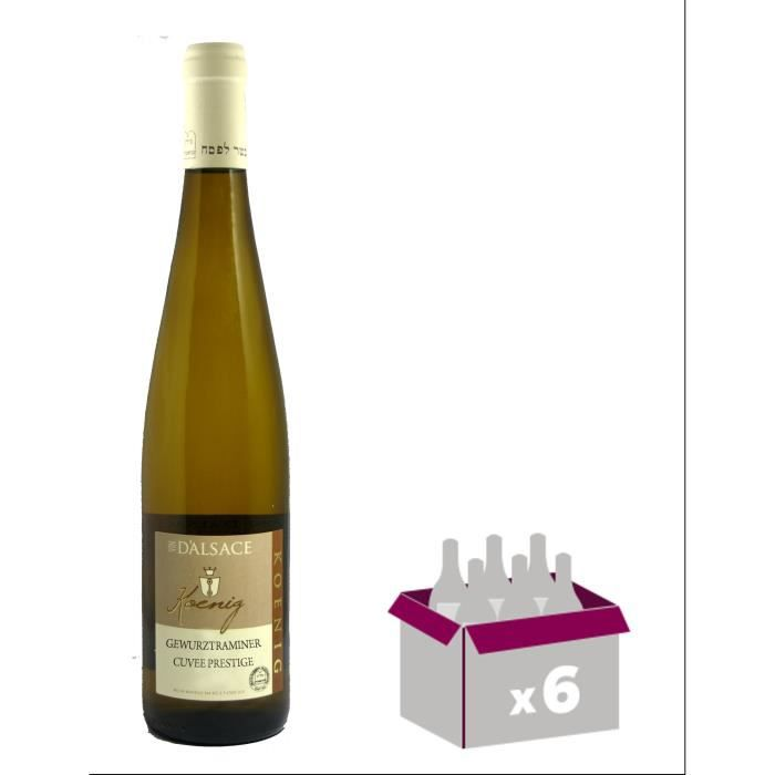 KOENIG GEWURZTRAMINER Cuvée Prestige 2016 Grand Vin d'Alsace Casher - Blanc - 75 cl - x6