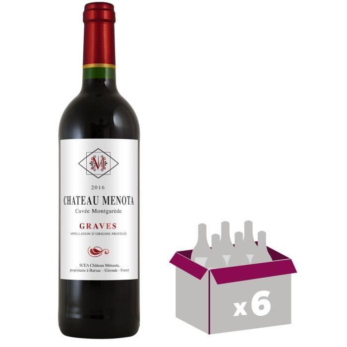Château Menota Cuvée Montgarède 2016 Graves - Vin rouge de Bordeaux