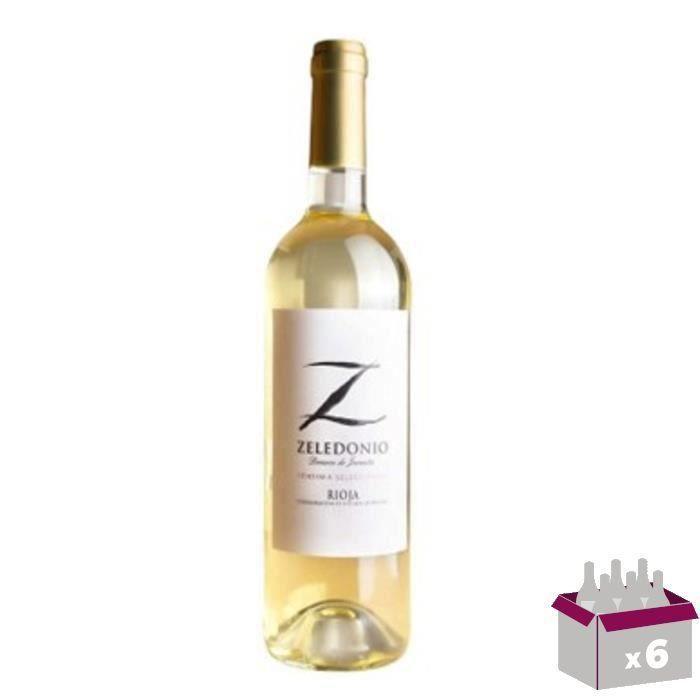BODEGA DOMECO DE JARAUTA 2016 Zeledonio Blanco Rioja - Vin Blanc - 6x 75 cl