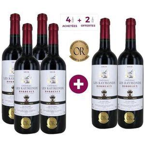 VIN ROUGE 4 ACHETEES + 2 OFFERTES Château Les Raymonds 2016