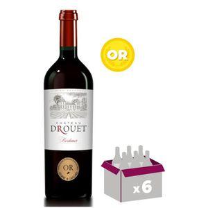 VIN ROUGE CHÂTEAU DROUET 2016 - Vin de Bordeaux - Rouge - 75