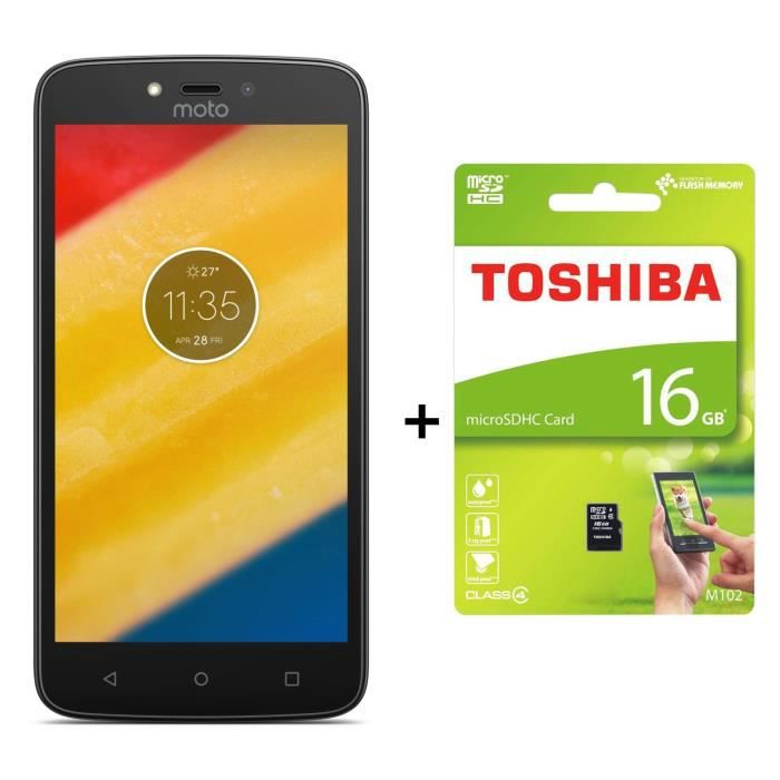 motorola moto c plus noir toshiba carte m moire microsd class 4 m102avec adapteur sd 16go. Black Bedroom Furniture Sets. Home Design Ideas
