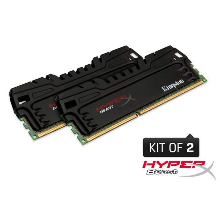 MÉMOIRE RAM Kingston 16Go DDR3 HyperX Beast 1600MHz CL9