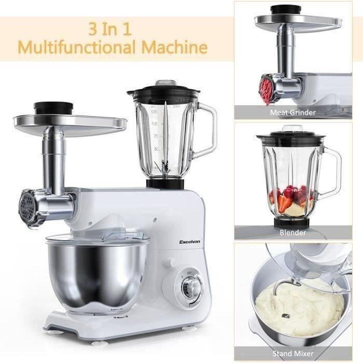 Robot ménager pâtissier de cuisine multifonction mixeur pétrin pâte Design rouge