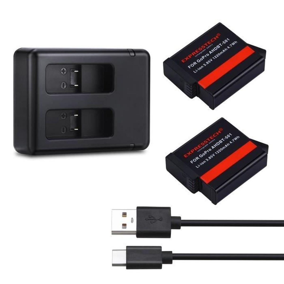 BATTERIE APPAREIL PHOTO Batterie Rechargeable 2PC + Chargeur Double pour g