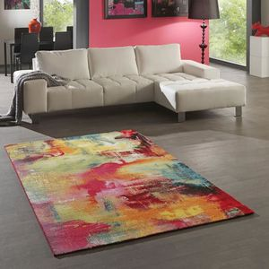 Tapis multicolore 120x170 achat vente tapis for Achat tapis salon moderne