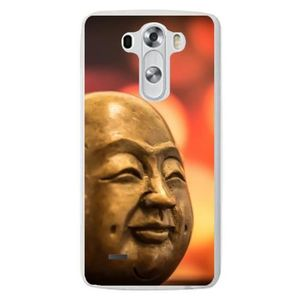 COQUE - BUMPER Coque Silicone Transparente pour LG G3 S - Bouddha