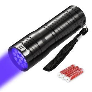 Linkax Lampe Torche UV LED Lampe de Poche Lumière Noire 395nm lum ultraviolet