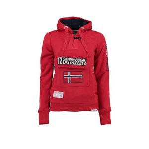 SWEATSHIRT Sweat Femme Geographical Norway Gymclass Rouge