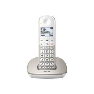 Téléphone fixe Philps XL490 Solo Sans Répondeur Silver
