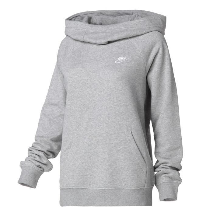 nike hoodie gris femme
