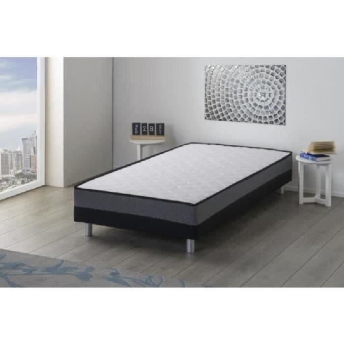whist ensemble sommier matelas 90x190 cm 1 place mousse ferme 24 kg m3 achat vente. Black Bedroom Furniture Sets. Home Design Ideas