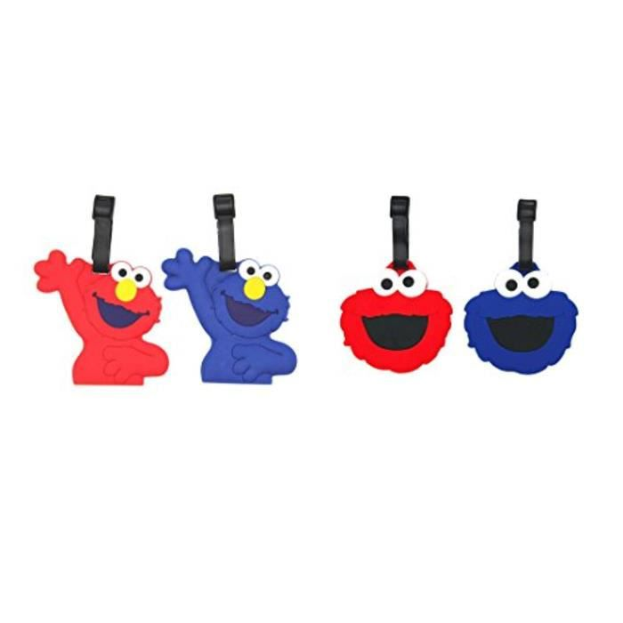 Bracelet De Montre Vendu Seul OMMDQ Cartoon Étiquette de bagage avec sangle réglable (4 Pack Sesame Street. Cookie Monster