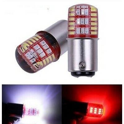 Ampoule BAY15D LED P21/5W Rouge et Blanc pour veilleuses Arrière feux de recul et Freins stop