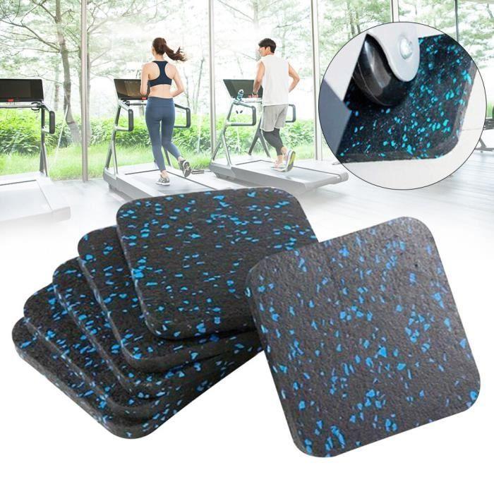 6 pièces absorbant les chocs épaissi doux coussin tapis de course tapis de sol isolation phonique équipement de Fitness [C89FB2C]