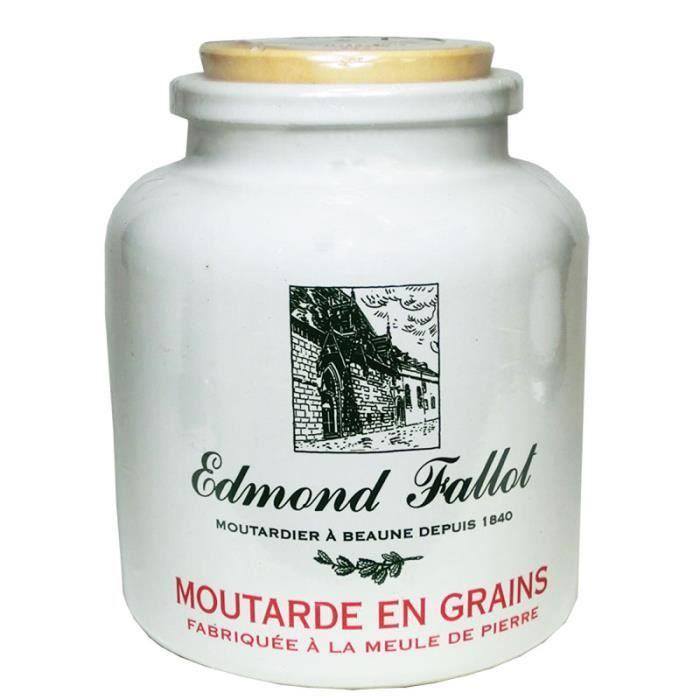 Moutarde de Dijon, en grains, fallot, 250g