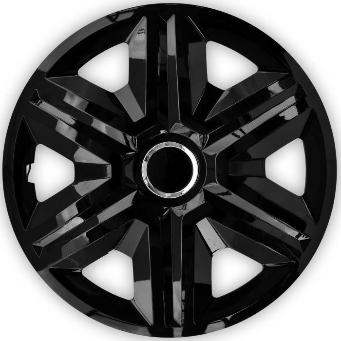 Enjoliveurs de roues FAST noir 15 - lot de 4 pièces