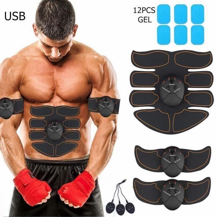 Electrostimulateur Musculaire USB Charge,EMS Ceinture Abdominale Electrostimulation,Homme Femme et Massage pour Cuisse Ventre Bras