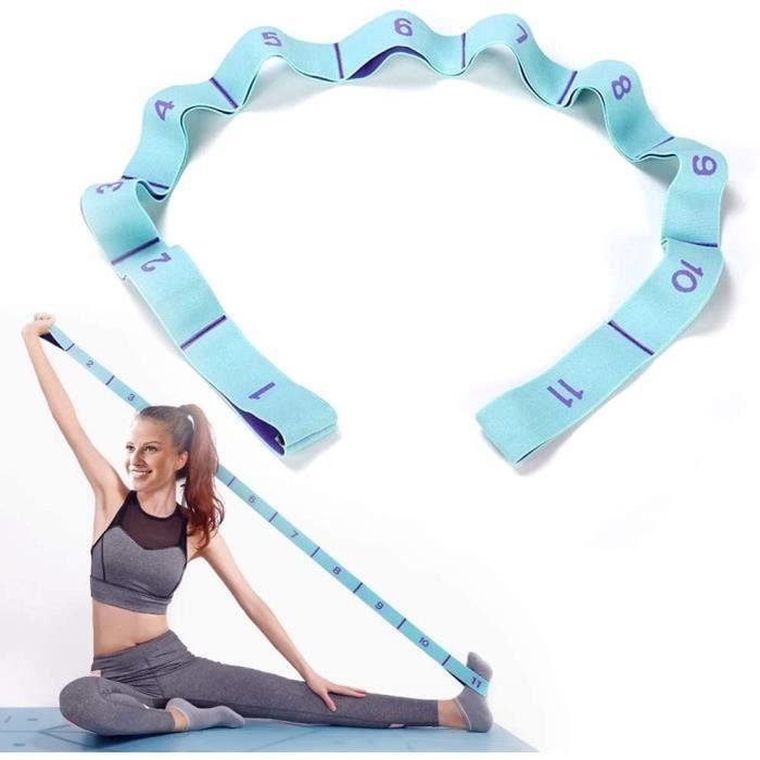 Sangle d'exercice, Yoga Stretch Bandes avec 11 Anneaux, Bandes élastiques d'exercice d'entraînement, Adultes Bande de Résistance