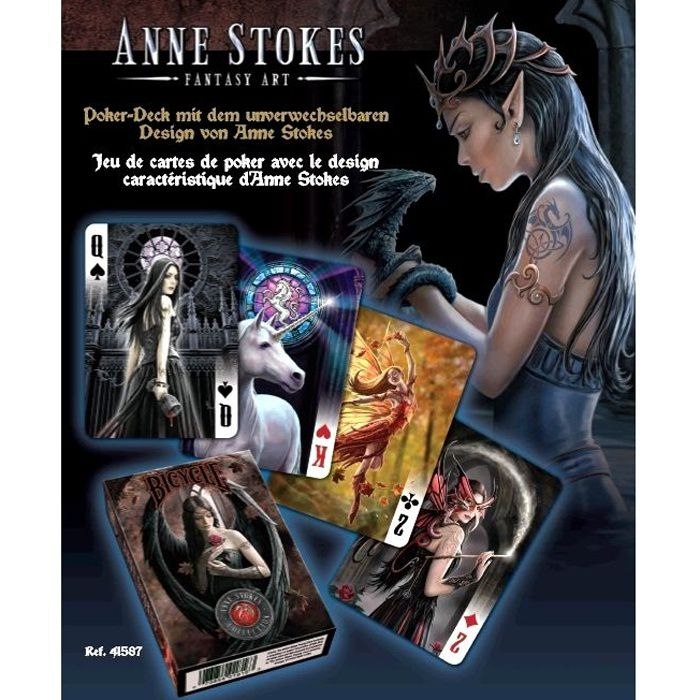 Cartes Bicycle Anne Stokes