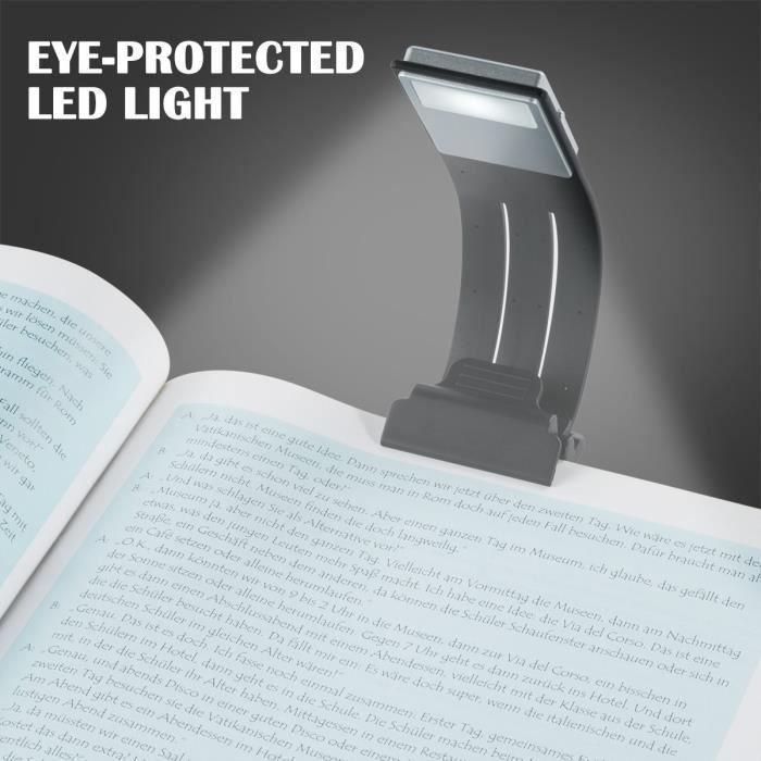 BLOOMWIN Lampe de Lecture avec Clips USB Rechargeable 4 Luminosité Réglable Pliable Avec Magnétique pour Livres Kindle Tablette iPad