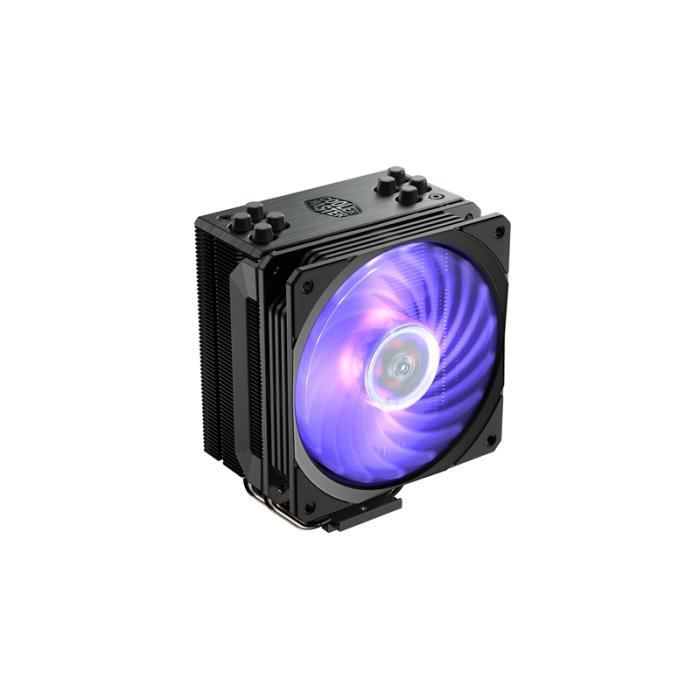 Cooler Master - Hyper 212 RGB Black Edition - Ventilateur de Processeur ( Intel® & AMD) 1x Ventilateur 120mm PWM - Eclairage RGB - N