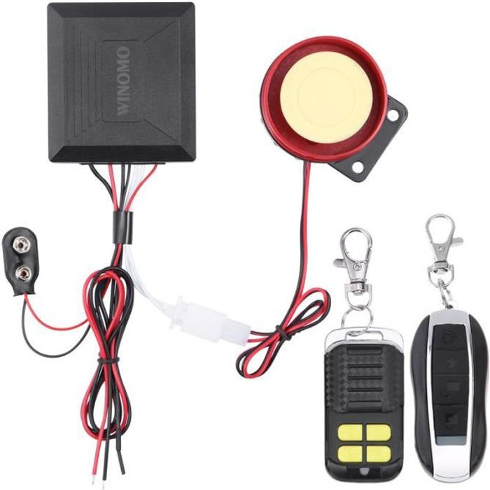 Winomo 12V Universel Moto Scooter Anti Vol alarme - simulateur d'alarme - module hyperfrequence aide a la conduite - securite