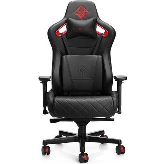 Fauteuil Gaming HP Omen Citadel Noir et Rouge. Confortable design Sportif durable s adapte a la morphologie 6KY97AA