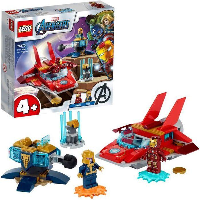 LEGO® 76170 Marvel Avengers Iron Man Contre Thanos Jouet avec 2 Figurines pour Enfants de 4 Ans et +