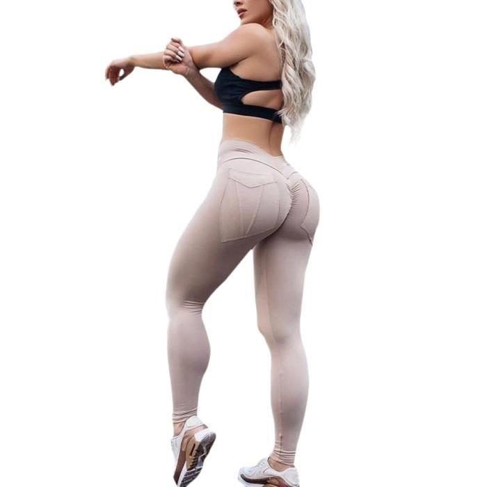 Minetom Leggings Femme Skinny Fitness Yoga Pantalons Jogging Casual Sports Taille Haute