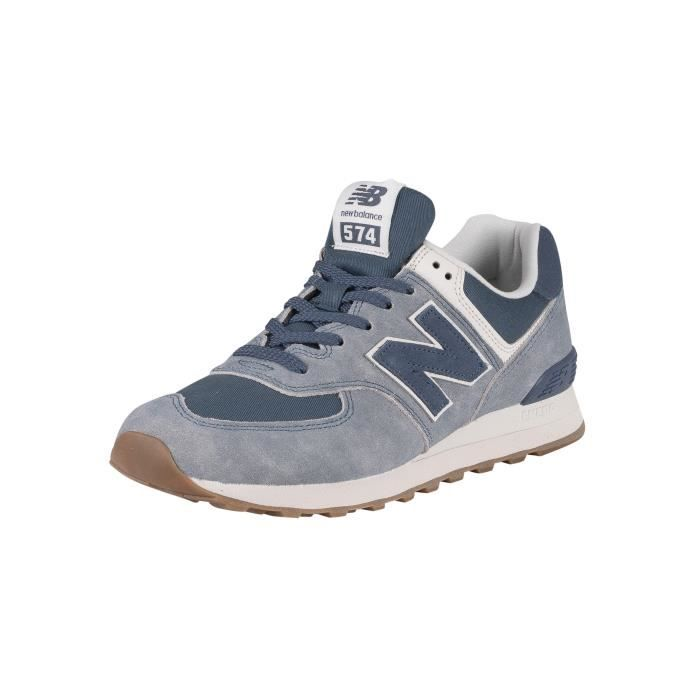 New Balance 574 Baskets en daim, Bleu, Homme