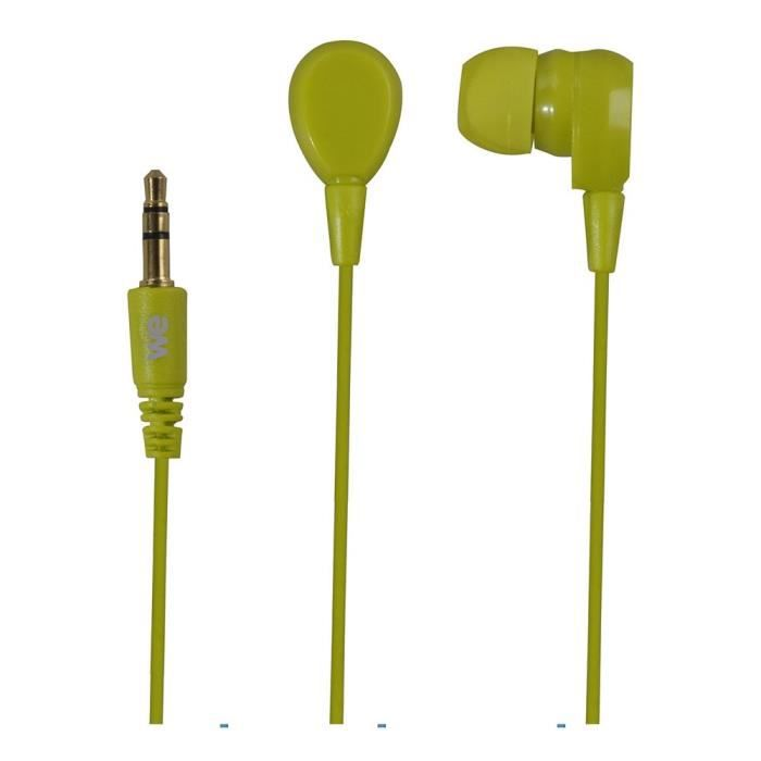 WE Ecouteurs - 1.2 m - jack 3.5 mm - 98 dB - Vert