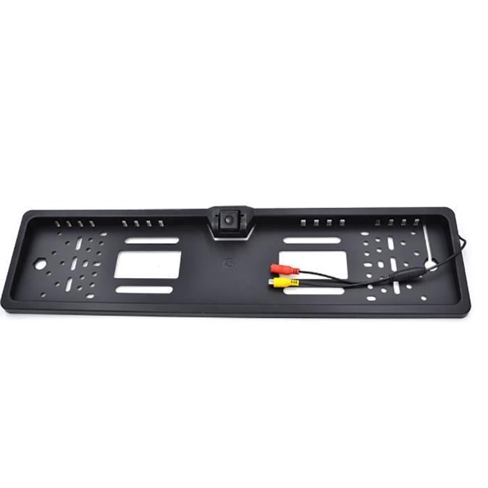 Cadre européen plaque d'immatriculation cadre caméra de recul caméra de recul de voiture caméra de recul avec 4 lumières LED