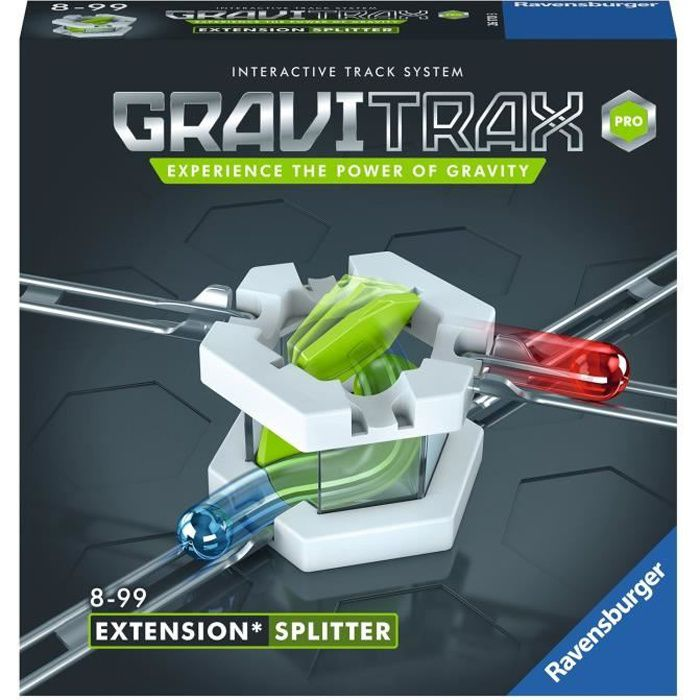 GraviTrax PRO Bloc d'action Splitter - Jeu de construction STEM - Circuit de billes créatif - Ravensburger- dès 8 ans
