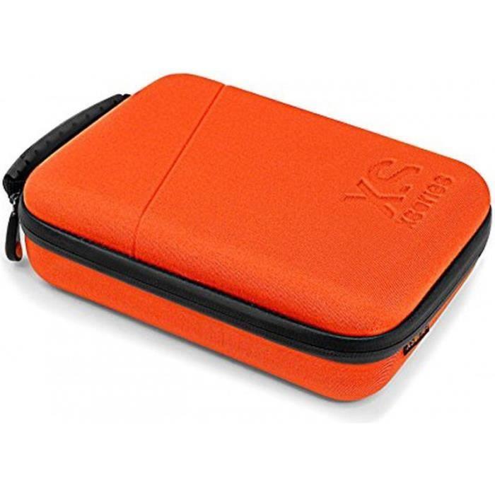 XSories - CAPXULE LARGE - Housse de rangement avec poignée pour caméra GoPro et accessoires - Orange