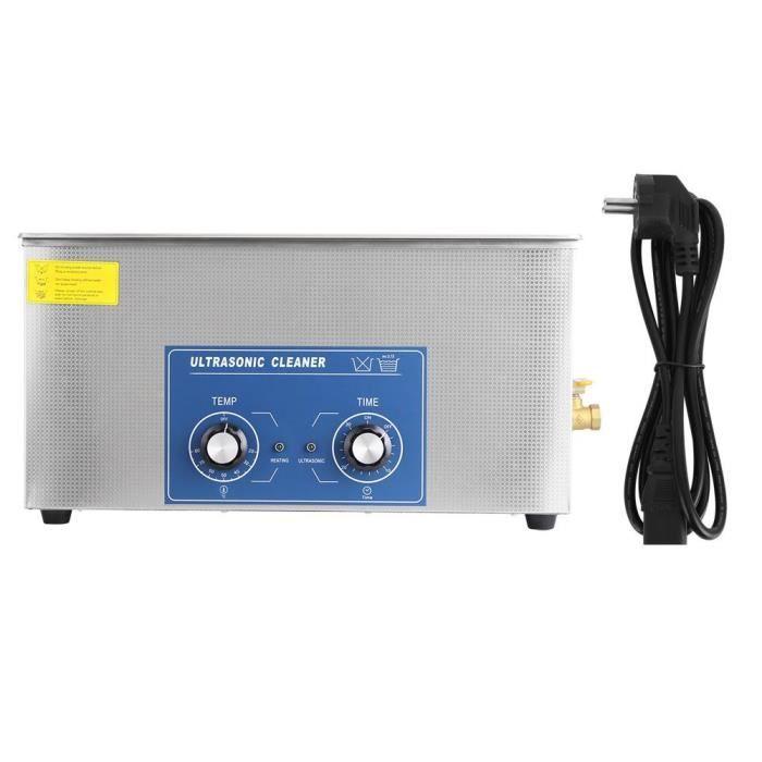 22L Ultrasonic Machine de Nettoyage Acier Inoxydable Numérique Automatique---QILU