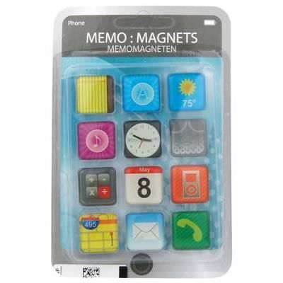 AIMANTS - MAGNETS Magnet forme icone application Iphone (x12)