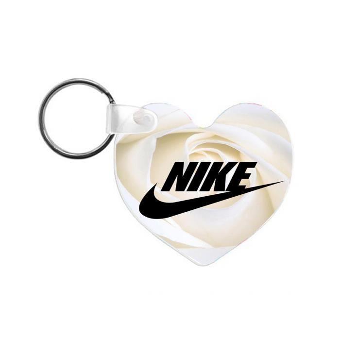 Porte-Clefs en Bois Nike Roses Blanches Logo Luxe 64x58mm Cadeaux ...