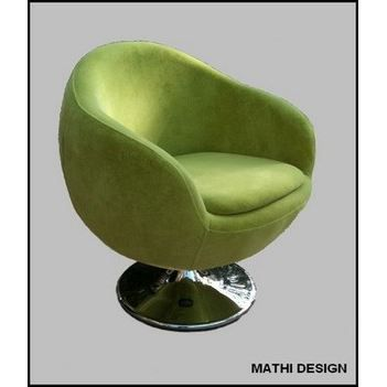 fauteuil design ball velours velours vert anis achat. Black Bedroom Furniture Sets. Home Design Ideas