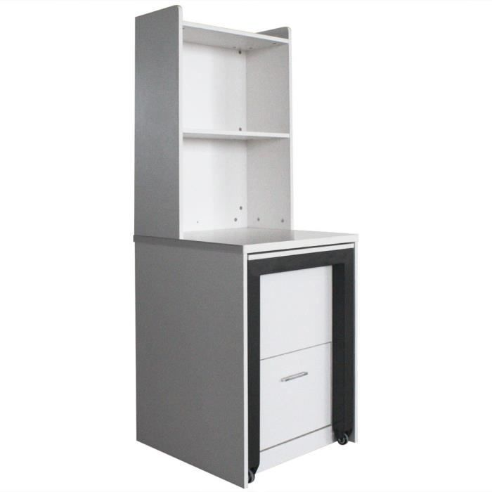 Etag re bureau charly blanc achat vente meuble tag re for Bureau etagere