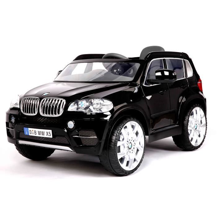 petite voiture lectrique b b enfant bmw x5 noir avec. Black Bedroom Furniture Sets. Home Design Ideas