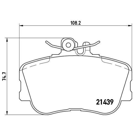 Bosch 0986466302 Lot de plaquettes de frein