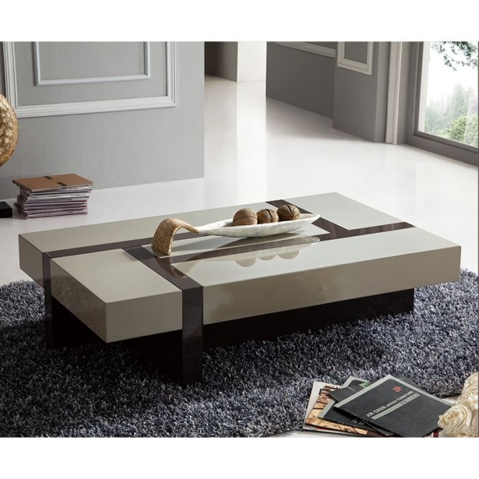 table basse minela rectangulaire laqu e avec achat vente table basse table basse minela. Black Bedroom Furniture Sets. Home Design Ideas