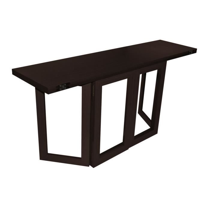 table console rabattable weng espa achat vente. Black Bedroom Furniture Sets. Home Design Ideas