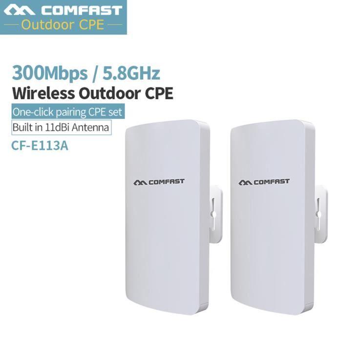 POINT D'ACCÈS COMFAST WiFi Bridge sans Fil CPE 300Mbps Point d'A