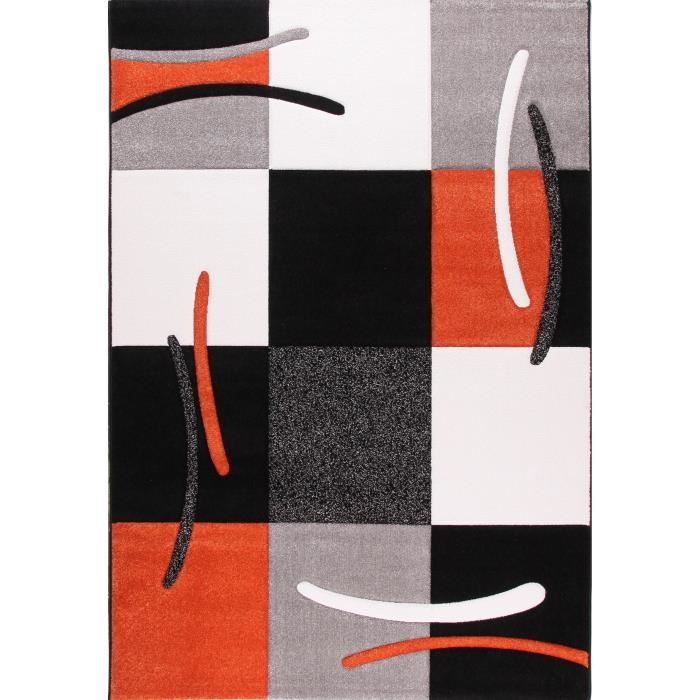 jazz tapis de salon orange 120x170 cm achat vente tapis 100 polypropyl ne soldes cdiscount. Black Bedroom Furniture Sets. Home Design Ideas