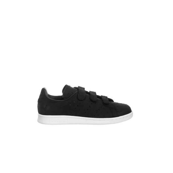 Baskets Velcro Adidas Stan Smith Cf Femme Noir - Achat ...