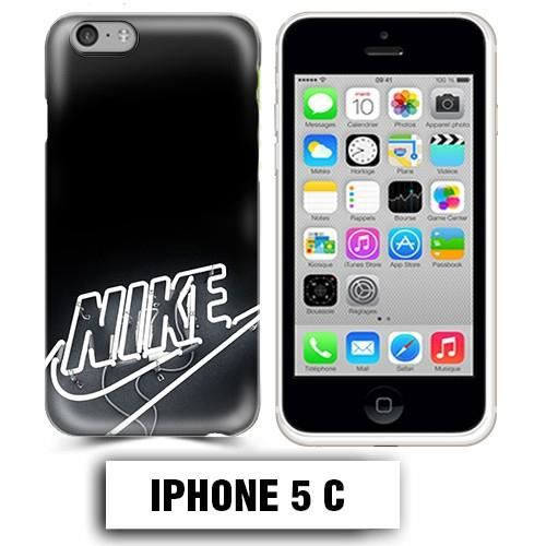 coque iphone 5c logo nike neon