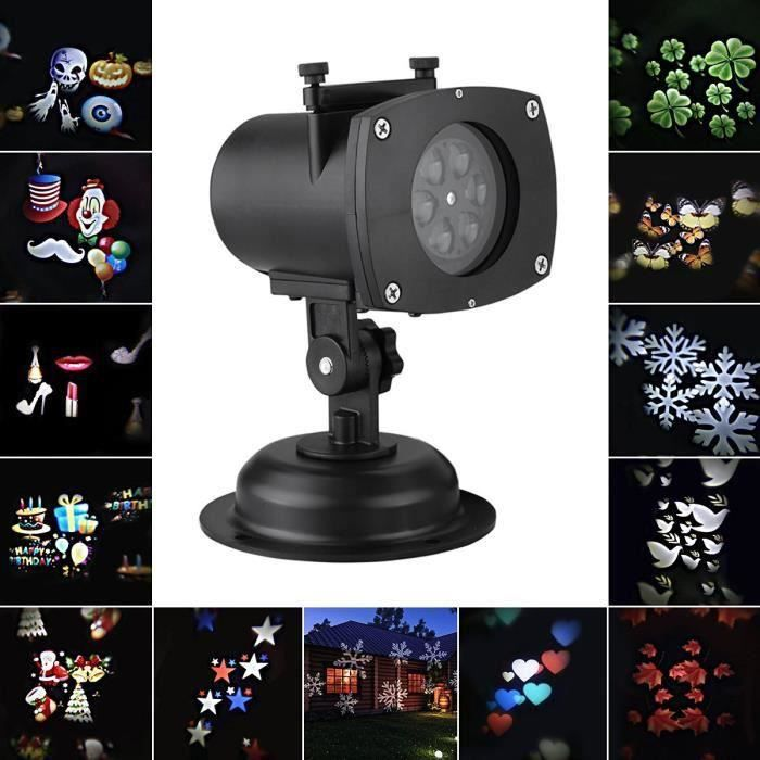 Led laser toile de no l jardin pelouse lumi re projecteur for Projecteur led exterieur noel