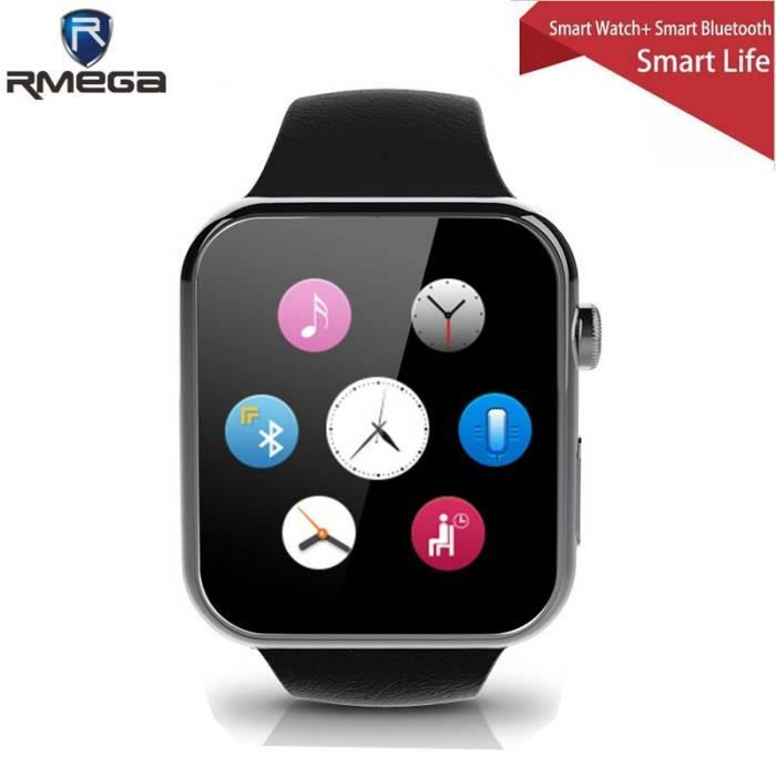 new smartwatch bluetooth montre smart watch pour apple iphone et samsung android t l phone. Black Bedroom Furniture Sets. Home Design Ideas